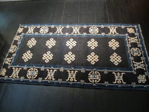 antique rug after restoration